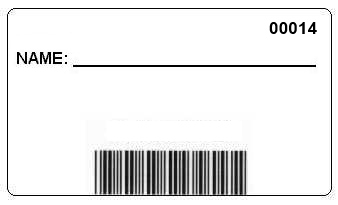 Barcode Badge Front